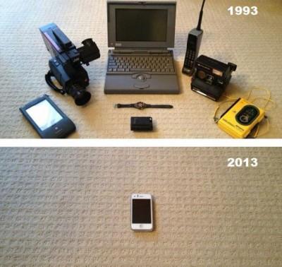 【画像】1993 & 2013 – やっぱiPhoneってスゲェやwww #applejp #iphonejp