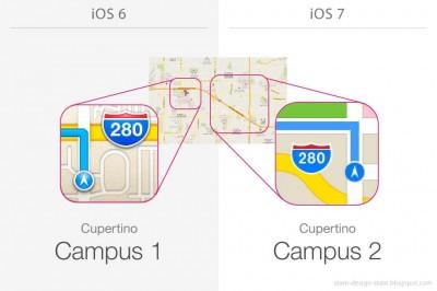 iOS 6と iOS 7の細かすぎるデザイン変更点 #applejp #iphonejp