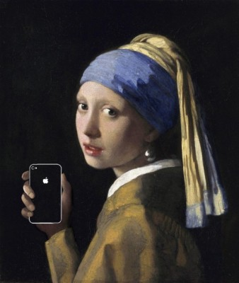 【画像】もしも名画が生まれた時代にiPhoneがあったら #iphonejp