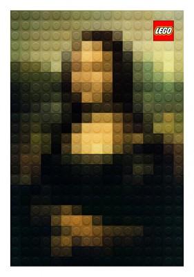 【画像】最も小さいレゴで作られた名画 #LEGO