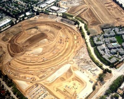 アップルの宇宙船型新本社ビルの工事の進捗状況 – 5月 #applejp