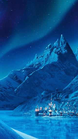 papers.co-ac70-wallpaper-elsa-frozen-castle-queen-disney-illust-snow-art-34-iphone6-plus-wallpaper