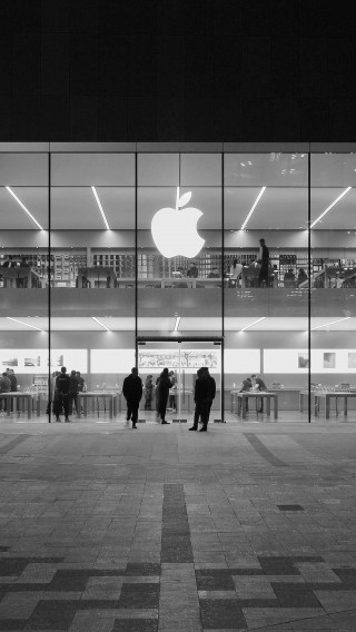 papers.co-ak40-apple-store-front-bw-dark-architecture-city-34-iphone6-plus-wallpaper