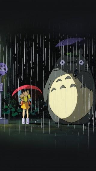papers.co-ao63-my-neighbor-totoro-art-illust-rain-anime-34-iphone6-plus-wallpaper