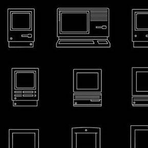 歴代Mac全機種を一枚にまとめたラインアート – サイズ比まで再現 #applejp