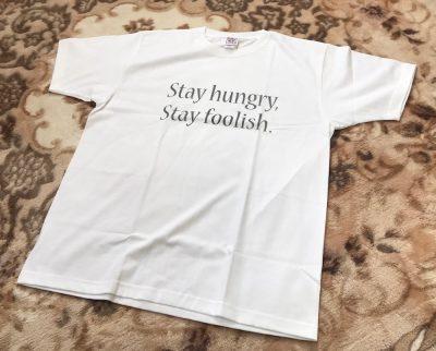 【極上林檎】Apple-Style Tシャツ第二弾「Stay hungry, Stay foolish.」Tシャツが届きましたwww