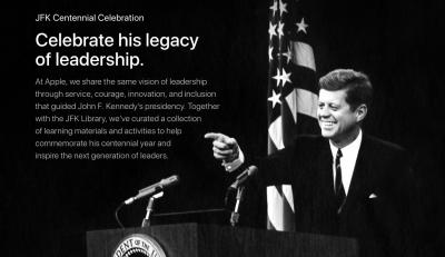 米Appleがジョン・F・ケネディ生誕100年記念コンテンツ「JFK Centennial Celebration」を公開 #applejp