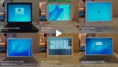 6台のオールドMacの起動画面を一挙に見られる動画を楽しんでみませんか #applejp