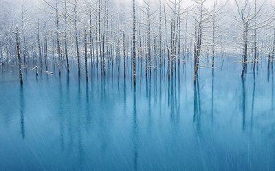 アップルの壁紙に採用されたあの「青い池」の写真が買えるようになりました #applejp
