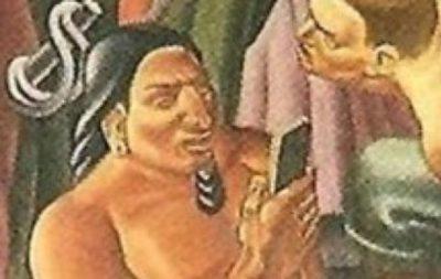 iPhoneを持ったインディアンが80年前の絵画の中に!? #iphonejp