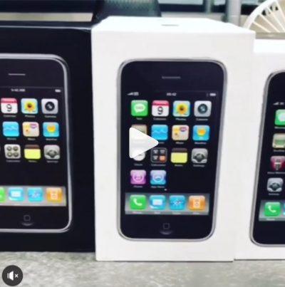 【動画】初代iPhoneからiPhone Xまでのパッケージを並べた動画 2007 – 2017